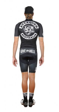 Give 'em Hell Cycling Kit by Attaquer Cycling Tights, Cycling Bib Shorts, Cycling Wear, Cycling Jerseys, Cycling Outfit, Cycling Clothes, Bmx Girl, Bike Kit, Bike Wear