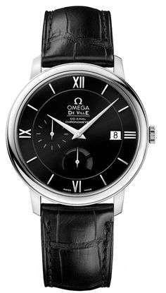 424.13.40.21.01.001  NEW OMEGA DEVILLE PRESTIGE POWER RESERVE CO-AXIAL MENS LUXURY WATCH IN STOCK - Order by noon and wear it the next day!   - FREE Overnight Shipping | Lowest Price Guaranteed    - NO SALES TAX (Outside California)- WITH MANUFACTURER SERIAL NUMBERS- Black Dial - Date Feature - Power Reserve Indicator - Self Winding Automatic Co-Axial Escapement Movement - Caliber 2627 Chronometer Movement - 48 Hour Power Reserve - 5 Year Warranty- Guaranteed Authentic - Certificate of ...