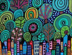 Parco centrale di Manhattan città d'arte della di HeatherGallerArt