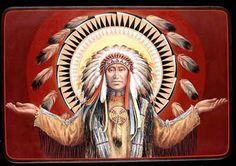 Lakota Victory Christ by Father John Giuliani Father John Battista Giuliani (b. the son of Italian immigrants, grew up in G. Native American Paintings, Indian Paintings, Native American Art, American Indians, Religious Icons, Religious Art, Religious Images, Father John, Jesus Father