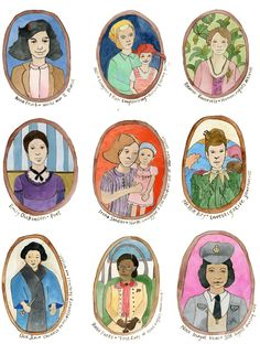 Prominent Women In History Cards- Only $15 for a set- Perfect for birthdays for girls AND boys!
