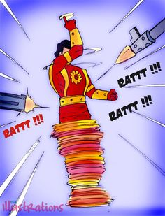 Shaktimaan is a fictional Indian superhero from the television series of the same name produced by Mukesh Khanna and directed by Dinkar Jani. Around 400 episodes of the series originally aired on Doordarshan, India's national television network. Indrajal Comics, Hindi Comics, Superhero Villains, Hindi Quotes, Printers, Minions, Bollywood, Projects To Try, Animation