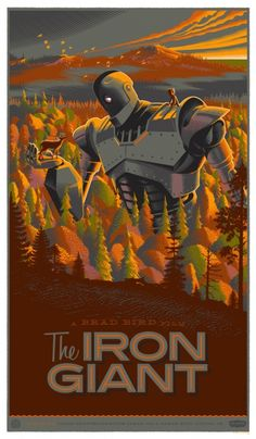THE IRON GIANT poster, Mondo  My son loves this movie!