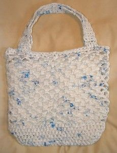 Sometimes we forget our reusable bags at home, or we have to buy more groceries than will fit in our supply.  This is a great way to repurpose those plastic bags that you accidentally brought home.