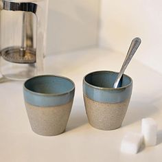 Coffee cup stoneware handmade wheelthrown pottery ceramic gift