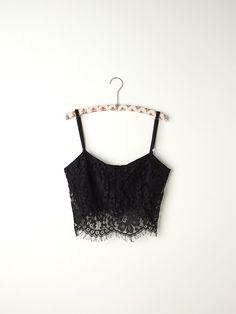 Free People Zinke Lace Crop Bralette, $58.00 #freepeople