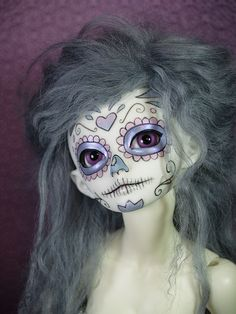 Day of the Dead - lovely colors #bjd #xhanthi #resin #doll #miniature