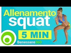 Esercizi Squat per Glutei e Cosce - Allenamento a Casa - 5 Minuti - YouTube