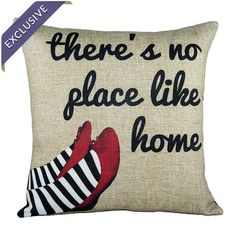 Dorothy Ruby Red Slippers Pillow from The Wizard of Oz #pillow #bedding #livingroom #home #decor