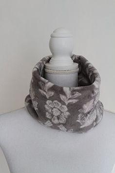 Gray/White Floral Fleece Neck Scarf Trim n' Thread https://www.amazon.com/dp/B0784P7XYT/ref=cm_sw_r_pi_awdb_x_fWlhAb99NNRQ1