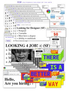 Career Expo 2015 identity by John Provencher. The campaign consisted of a graphic system that played off the idea of an internet job search, in which the Career Expo is a much better alternative. Graphic Design Posters, Graphic Design Typography, Graphic Design Inspiration, Web Design, Website Design, Vaporwave Anime, Abstract Illustration, Plakat Design, Poster Layout