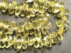 Lemon Quartz Beads Faceted Lemon Quartz Fancy by gemsforjewels