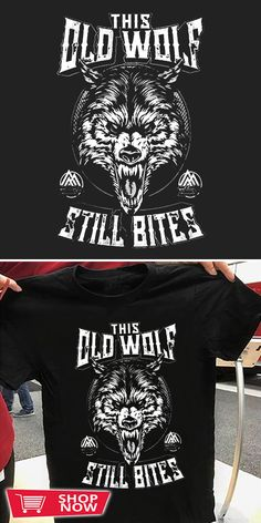 You can click the link to get yours. OLD WOLF - STILL BITES. Wolf Spirit tshirt for Wolf Lovers and Viking Warriors. We brings you the best Tshirts with satisfaction. Snow Wolf, Wolf T Shirt, Wolf Love, Spirit Shirts, Wolf Spirit, Viking Warrior, Love Gifts, Inspirational Gifts, Warriors