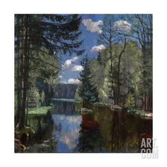 "Fine Art Print New 20 x 28/"" By Stanislav Zhukovsky Spring in the Forest"
