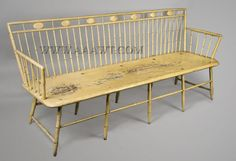 Antique Furniture_Benches, Highly Painted Chairs