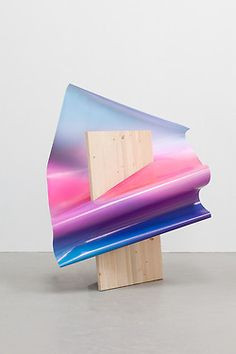 Rencontre by Akatre, Very clean white background shot of a gradient wooden… Art Sculpture, Sculptures, Modern Sculpture, Coral Pantone, Blue Photography, Art Blue, 3d Art, Artistic Installation, Projection Installation