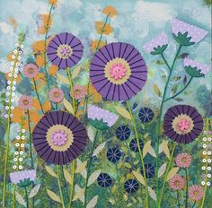 Purple Flowers jo grundy