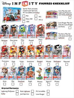 Disney Infinity Figures Checklist (Update 1.1) by GirlsGoneWild101.deviantart.com on @deviantART