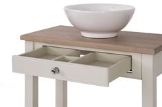 Neptune Chichester Oak Countertop Washstand, 850mm