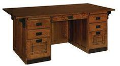 Amish Office Furniture Mission Executive Desk