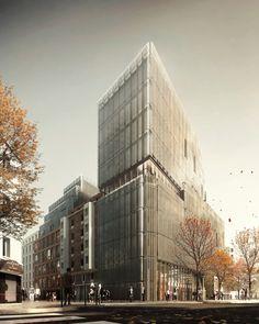 Office building near Porte de Clichy | NADAU LAVERGNE ARCHITECTS | Archinect
