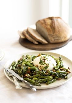 Poke Bol, Good Food, Yummy Food, Vegetable Recipes, Green Beans, Entrees, Tapas, Brunch, Appetizers