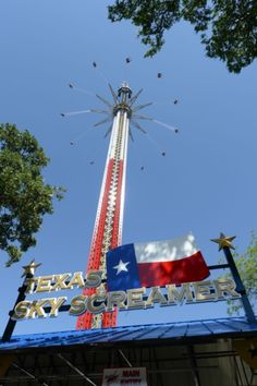 Guinness World Record says Texas SkyScreamer, at Six Flags Over Texas, is officially the World's Tallest Swing Carousel Ride in the world.