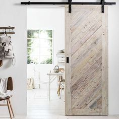 Doors that make tiny spaces feel bigger Doors that make small spaces feel bigger. Changing up something as simple as the doors in your home can really help you maximise the space you have. Barn doors and pocket doors are game changers in small homes. Wooden Sliding Doors, House, Small Spaces, Interior, Wood Doors, Home Remodeling, Doors Interior, Wood Doors Interior, Barn Door Closet