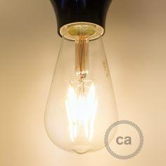 Lampadina decorativa vintage LED 4W trasparente Calex Edison ST64.
