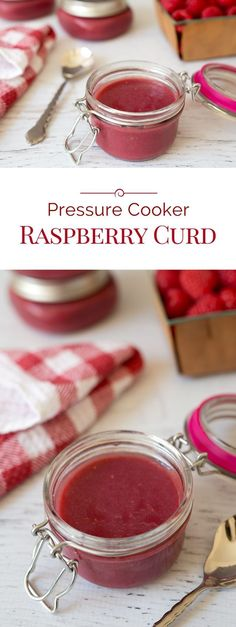 Rich, creamy, tart Pressure Cooker Raspberry Curd is quick and easy to make. A flavorful addition to your favorite dessert, breakfast or even toast.