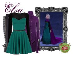"""Elsa"" by merahzinnia ❤ liked on Polyvore featuring Disney, Jumpo, Miss Selfridge, Wallis and Forever 21"