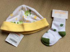 GYMBOREE BRAND NEW BABY WHITE /& YELLOW w// TURTLES UNISEX BEANIE HAT 0 3 6 12 NWT