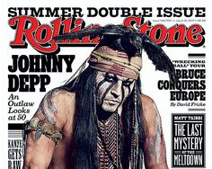 Johnny Depp covers #RollingStone Magazine July, 2013: on Split with Vanessa Paradis: 'It Wasn't Easy on Me'