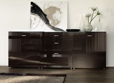 ... high gloss sideboard makes an excellent statement in your living room