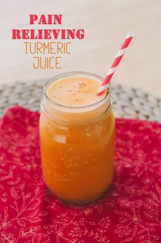 Have you juiced with turmeric yet? Turmeric contains anti-inflammatory properties , making it an excellent herb to relieve pain. - Green Juice A Day  Pain Relieving Turmeric Juice - By So, Let's Hang Out 1 bunch of organic celery 1 English cucumber, peeled if not organic 1 inch piece of ginger root 1.5 inches of turmeric root (or three smaller root sections) 3 organic carrots 2 cups of freshly chopped pineapple   Visit us over at http://www.greenjuiceaday.com/ for more juicing tips.