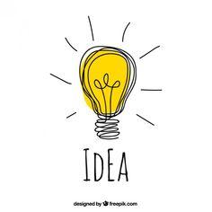 Hand drawn idea concept Free Vector