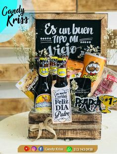 Fathers Day Gift Basket, Fathers Day Presents, Cheer Box, Food Bouquet, Alcohol Gifts, Love Box, Boyfriend Gifts, Gift Baskets, Diy And Crafts