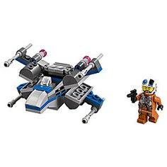 Resistance X-Wing Fighter Playset by LEGO - Star Wars | Disney Store The First Order is attacking and it?s time to call in the Resistance X-Wing Fighter microfighter. Sit the Resistance X-Wing Pilot in the cockpit, fold the wings and blast off for LEGO <i>Star Wars</i> space battles.