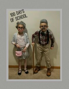 100 Days of School Kids dressed up as 100 year olds!! To Celebrate 100 days Hahaha! ❤️