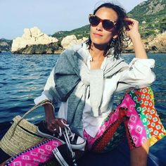 Alexa Chung posted a sun-kissed Instagram snap of herself yesterday in a…