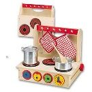 ALEX® Toys - Pretend & Play Wooden Cook- This is a great play kitchen. It folds up to fit in a closet or under the bed when not in use. It can sit on any table top, on the floor, or even go outside. Play Kitchen Sets, Play Kitchens, Kitchen Stove, Toy Kitchen, Baby Toys, Kids Toys, Kitchen Playsets, Alex Toys, Imaginative Play