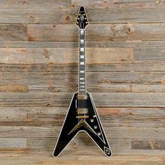 Gibson Flying V Custom Black USED (s377)