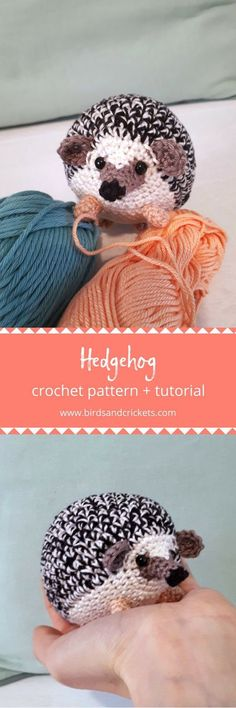 Baby Knitting Patterns Toys Now you can crochet your own spiky little critter with this hedgehog crochet pat. Chat Crochet, Crochet Mignon, Crochet Amigurumi, Knit Or Crochet, Crochet Gifts, Amigurumi Patterns, Crochet Dolls, Crochet Baby, Free Crochet