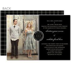 love the idea of a picture wedding invitation