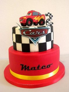 Cake Disney Boy Lightning Mcqueen Ideas For 2019 Car Themed Parties, Cars Birthday Parties, Birthday Cake, Auto Party, Race Car Party, Disney Cars Cake, Disney Cars Birthday, Fondant Cakes, Cupcake Cakes