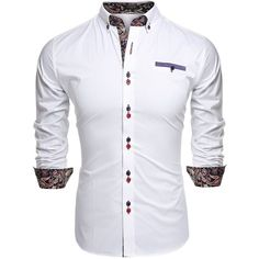 Coofandy Men's Fashion Slim Fit Dress Shirt Casual Shirt ($20) ❤ liked on…