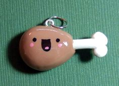 Miniature Food DRUMSTICK Polymer Clay Charm - Handmade by The Happy Acorn