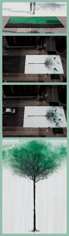 China Environmental Protection Foundation - Green Pedestrian Crossing #creative #installation