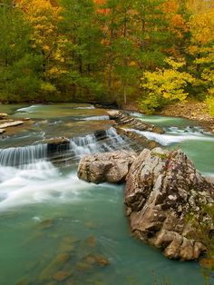 Six Fingers Falls in Ozark National Forest