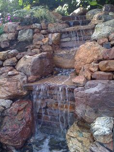 Waterfall feature competed last summer.